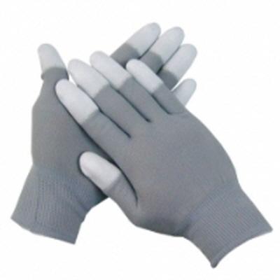 PU-TOP 회색+흰색손끝코팅장갑<br>(100켤레)