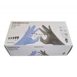 HAND SKAR 라텍스 글러브 100매 (색상 - 블랙) 천연고무 엠보싱