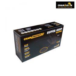 카멜레온 슈퍼 그립 니트릴 장갑<br>(80매/박스) M/L/XL (블랙)