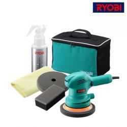 RYOBI (료비) 광택기 PED 130KT<BR>랜덤 오비트 광택샌더 겸용 폴리셔