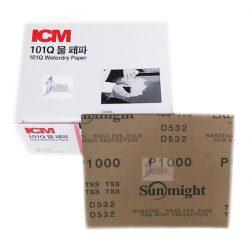 ICM 101Q 수페파 (물페파) 종이사포<BR>115mm x 140mm 연마지 빼빠 (300장)