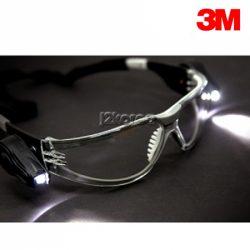 3M 보안경 (Light Vision) 후레쉬 장착 안전고글 김서림 방지 코팅렌즈 눈보호 UV차단